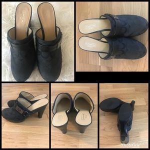 Gently used coach clogs